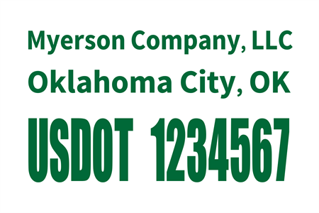 US DOT Tracking Number Window Decal: 528-4