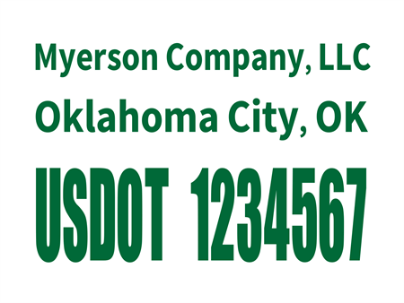 US DOT Tracking Number Car Magnet: 528-6