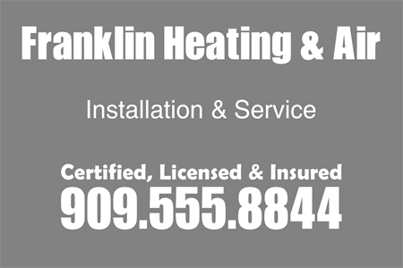 Heating And Air Install Lettering: 896-4
