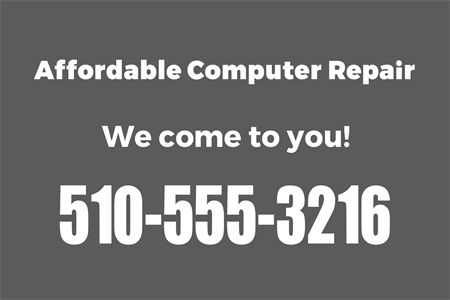 Business Contact Info Die-Cut Decal: 891-4