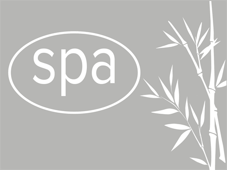 Spa and Bamboo Window Decal: 2591-6