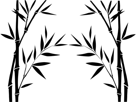Bamboo Window Decal: 1187-6