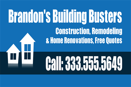 Construction And Remodeling Window Decal: 218-2