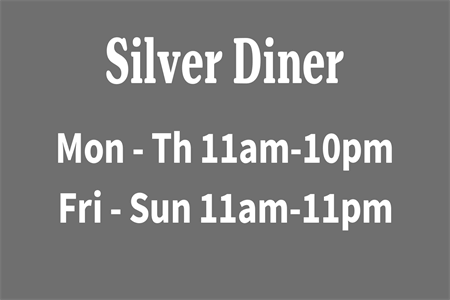 Diner Hours Rear Window Graphic: 459-4