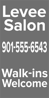Salon Shop Contact A Frame Sign: 456-3
