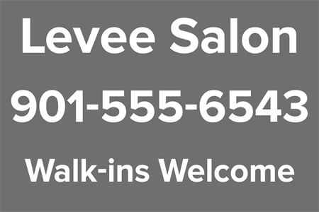 Salon Shop Contact Window Decal: 456-4