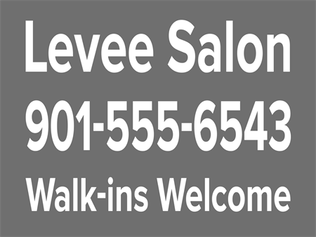 Salon Shop Contact Car Magnet: 456-7