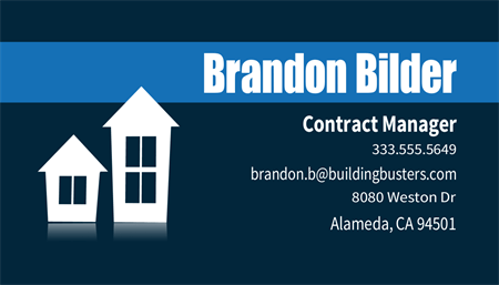 Construction And Remodeling Business Card: 218-9