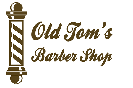 Barber Pole Etched Glass Decal: 2089-4