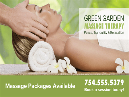 Massage Therapy Packages Window Decal: 2589-6