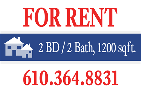 Apartments For Rent Housing Window Decal: 640-2