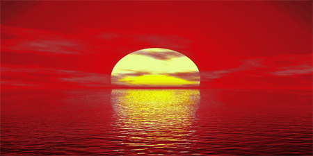 Ocean Sunset Backdrop: 512-1