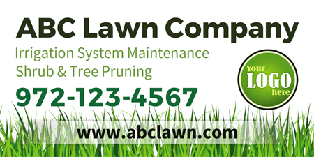 Lawn Company Mesh Banner: 515-1