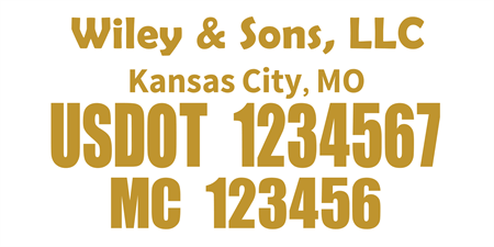 US DOT and MC Car Magnet: 529-1