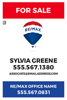 RE/MAX For Sale With Logo A Frame Sign: 710-16