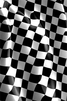 Checkered Race Flag A Frame Sign: 492-10