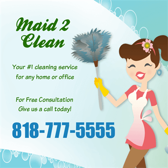 Maid and Cleaning Service Backdrop: 788-4
