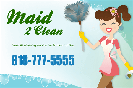 Maid and Cleaning Service Die-Cut Decal: 788-8