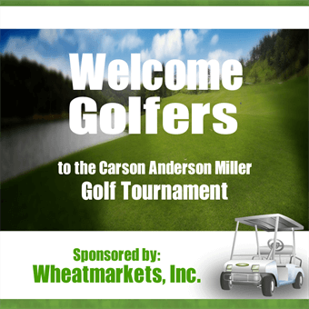 Welcome Golf Tournament Sponsors Backdrop: 150-4