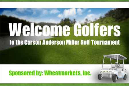 Welcome Golf Tournament Sponsors Die-Cut Decal: 150-8