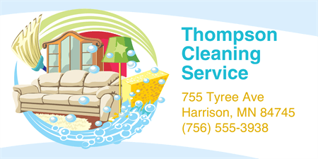 Cleaning Service Owner Business Card: 1780-3