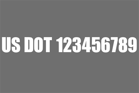 USDOT Grey and White Die-Cut Decal: 571-8