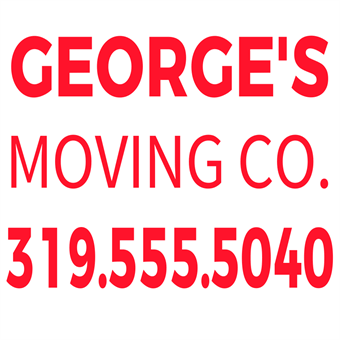 Moving Company Number Backdrop: 2111-4