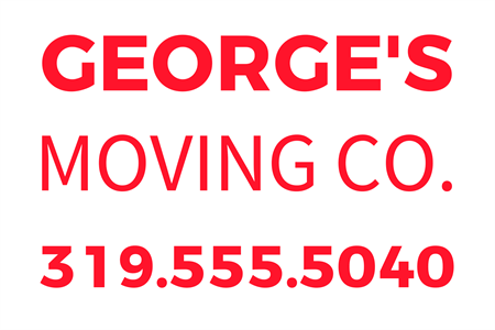 Moving Company Number Etched Glass Decal: 2111-8