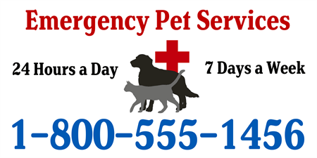 Emergency Pet Care Acrylic Sign: 555-1
