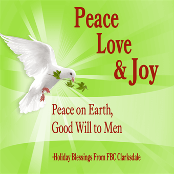 Christmas Peace Good Will Sticker: 786-4