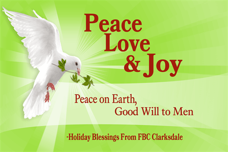 Christmas Peace Good Will Window Decal: 786-8