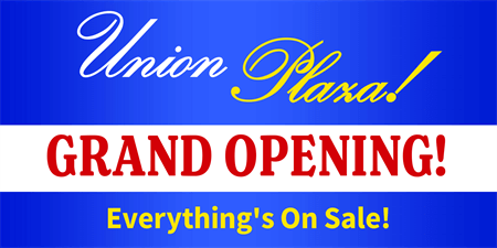 Blue Grand Opening Sale Yard Sign: 561-1