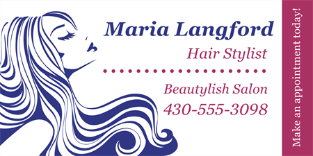 Hair Stylist Business Card: 1584-3