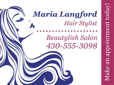 Hair Stylist Window Decal: 1584-4