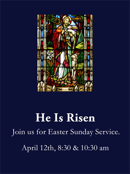 Easter Sunday Service Flyer: 1245-7