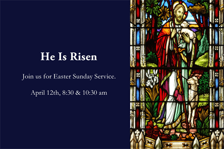 Easter Sunday Service Rear Window Graphic: 1245-8
