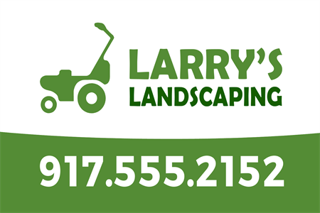 Landscaping Lawnmower Banner: 906-8