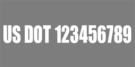 USDOT Grey and White Car Magnet: 571-1
