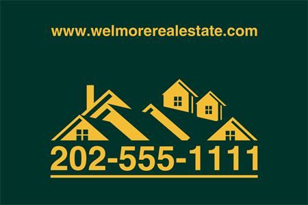 Real Estate Roof Window Decal: 1341-8