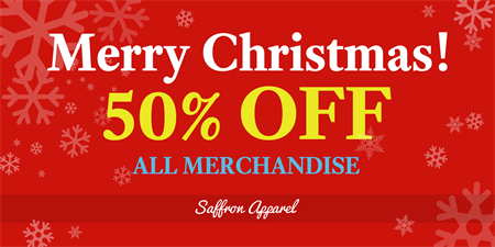 Merry Christmas Sale Window Decal: 592-1