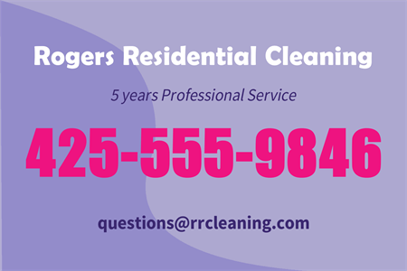 Residential Cleaning Service Rear Window Graphic: 461-8