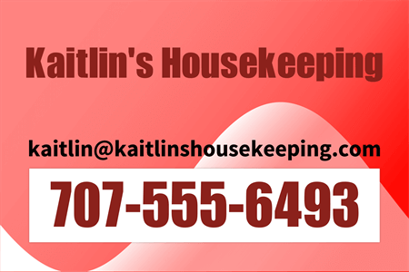 Red Housekeeping Services Rear Window Graphic: 462-8