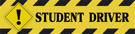 Student Driver Warning Car Magnet: 1190-2