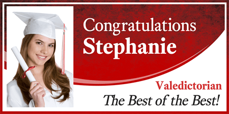 Valedictorian Graduate Photo Banner: 668-1