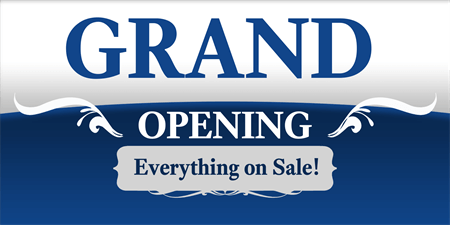 Store Grand Opening Yard Sign: 677-1