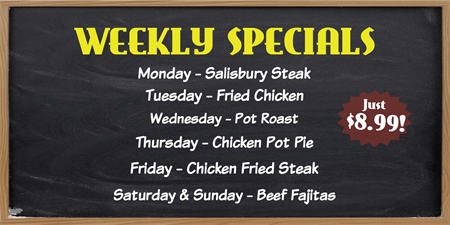 Weekly Specials Menu Board: 1641-2