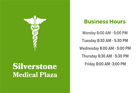 Medical Office Hours Window Decal: 1062-3