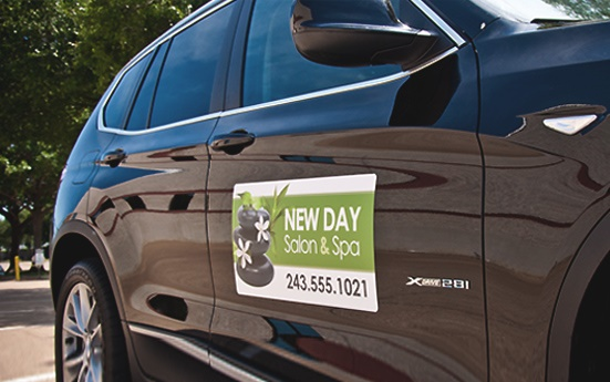 Car Magnets  Magnetic Signs That Are Customized Signazoncom - Custom car magnets for business