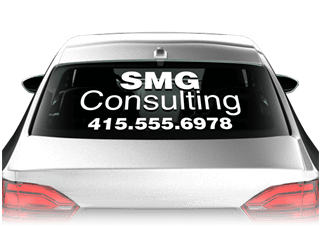 Car Window Decals Auto Window Decals For Vehicles Signazoncom - Car window clings custom