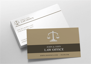 Lawyer Business Cards